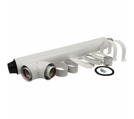 STOUT дымоход коаксиальный для прохода через стену универсальный комплект Ø 60/100, L850 мм