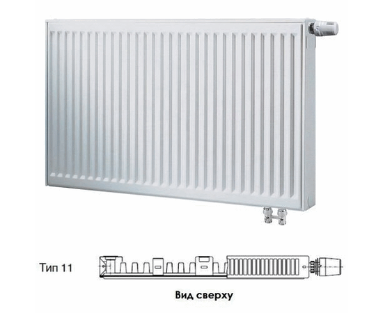 BUDERUS Радиатор стальной панельный VK-Profil 11/500/500, re