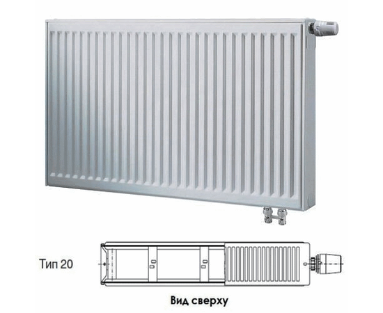 BUDERUS Радиатор стальной панельный VK-Profil 20/300/1600