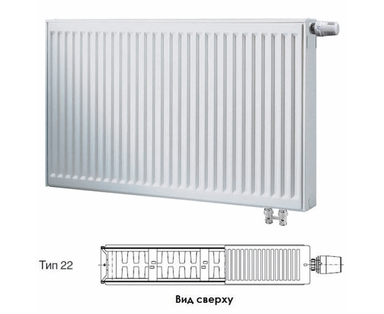BUDERUS Радиатор стальной панельный VK-Profil 22/600/1000, re