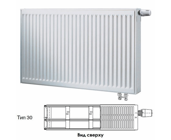 BUDERUS Радиатор стальной панельный VK-Profil 30/600/1800, re