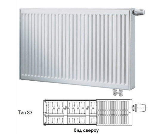 BUDERUS Радиатор стальной панельный VK-Profil 33/900/1200
